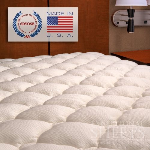 Extra Plush Bamboo Fitted Mattress Topper - Review & Deal