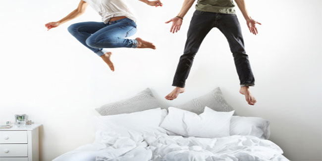 Jumping on the mattress